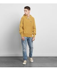 Champion - Yellow Garment Dyed Hoody - Size? Exclusive for Men - Lyst