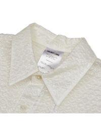 Helmut Lang - White Chap Bubble Shirt - Lyst