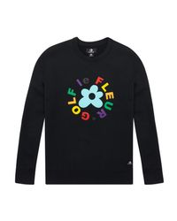Converse - Multicolor Golf Le Fleur Crewneck Sweatshirt for Men - Lyst