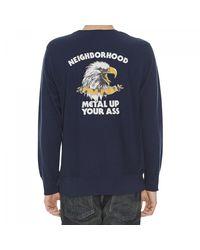 Neighborhood - Blue Jersey Crewneck Sweatshirt for Men - Lyst