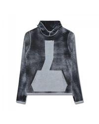 Stone Island | Black Teleport Hooded Sweater for Men | Lyst