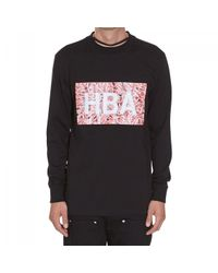Hood By Air - Black Meat Box Long Sleeve T-shirt Neck Detail for Men - Lyst