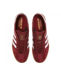 Adidas Originals - Red München Burgundy Shoe for Men - Lyst