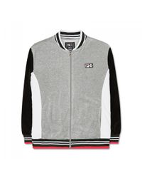 Fila - Gray Staple X Colorblocked Velour Jacket for Men - Lyst