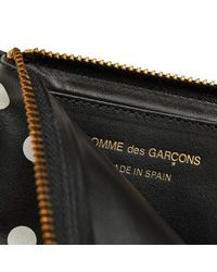 Comme des Garçons - Black Classic Zip Polka Dots Printed Wallet S - Lyst