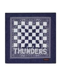 THUNDERS - Blue Checkers Bandana - Lyst