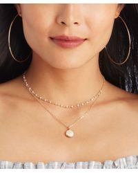 Sole Society - Metallic Dainty Oversize Hoop Earrings - Lyst