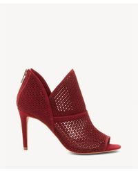 Vince Camuto - Red Vatena Peep Toe Bootie - Lyst