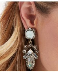 Sole Society - Multicolor Victorian Crystal Statement Earrings - Lyst
