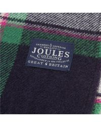 Joules - Blue Bracken Scarf - Lyst
