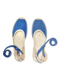 Soludos - Blue Vintage Denim Classic Sandal - Lyst