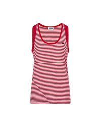 Sonia by Sonia Rykiel | Red Striped Tank Top With Rib Finishing | Lyst