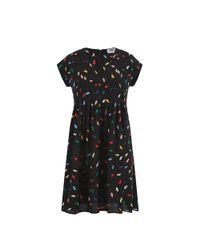 Sonia by Sonia Rykiel | Black Multicolor Lips Printed Dress | Lyst