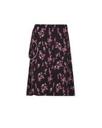 Sonia by Sonia Rykiel | Black Flower Print Skirt | Lyst