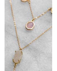 South Moon Under - White Crystal And Druzy Y Necklace - Lyst