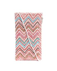 South Moon Under - Pink Embellished Zig Zag Cellphone Crossbody Purse - Lyst
