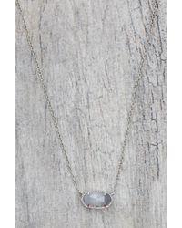 Kendra Scott | Gray Elisa Pendant Necklace In Slate | Lyst
