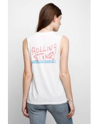 Day Dreamer LA - White Rolling Stones Graphic Muscle Tank Top - Lyst