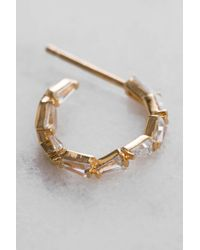 South Moon Under - Metallic Rittichai Cz Baguette Mini Hoop - Lyst