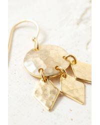 South Moon Under - Metallic Hammered Mini Shield Earrings - Lyst
