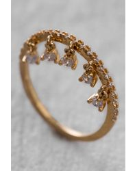 Tai - Metallic Rittichai Cz Ring With Small Charms - Lyst