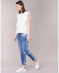 Moony Mood - Germios Women's Blouse In White - Lyst