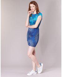 Bleu Blue Desigual En Lyst Aplexa Femmes Robe 8POkXn0wZN