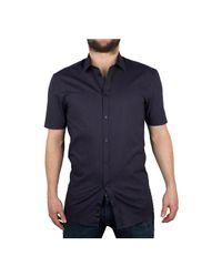 Minimum - Men's Macon Shortsleeved Shirt, Blue Men's Short Sleeved Shirt In Blue for Men - Lyst