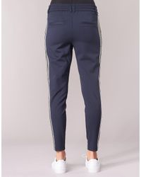 ONLY - Blue Onlpoptrash Trousers - Lyst