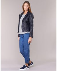 Esprit - Vestarola Women's Leather Jacket In Blue - Lyst