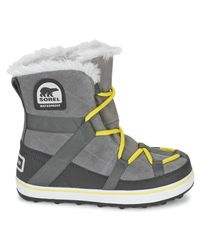 Sorel | Gray Glacy Explorer Shortie Women's Snow Boots In Grey | Lyst