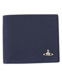 Vivienne Westwood - Blue Credit Card Holder for Men - Lyst