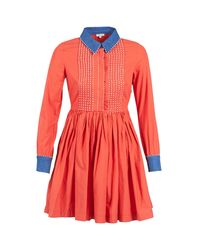 Manoush | Pompom Women's Dress In Orange | Lyst