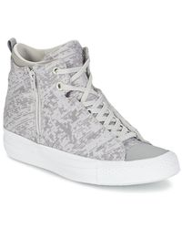 Converse | Gray Chuck Taylor All Star Selene Women's Shoes (high-top Trainers) In Grey | Lyst