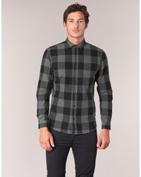 Jack & Jones - Gray Frisk Originals Men's Long Sleeved Shirt In Grey for Men - Lyst