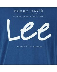 Lee Jeans - ®logo Tee Men's T Shirt In Blue for Men - Lyst