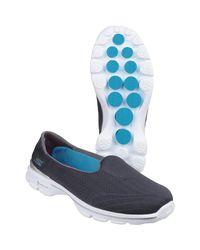 Skechers - Gray Go Walk 3 Insight Women's Slip-ons (shoes) In Grey - Lyst