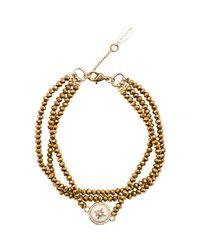 Hipanema - Metallic Bracelet Celestine, Gold Women's Bracelet In Gold for Men - Lyst