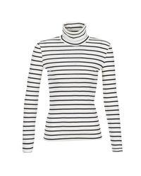 Petit Bateau - Loter Women's Long Sleeve T-shirt In White - Lyst