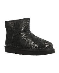 89b000206f6 UGG W Classic Mini Glitzy Women's Low Ankle Boots In Black in Black ...
