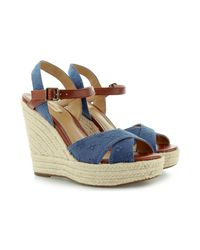 Pepe Jeans - Walker Romantic Pls90177 Women's Sandals In Blue - Lyst