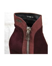 Big Star | Purple Burgund Ocieplane Na Słupku Women's Low Ankle Boots In Multicolour | Lyst