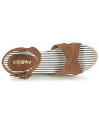 Superdry - Isabella Espadrille Wedge Shoe Women's Sandals In Brown - Lyst