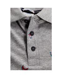 Jack & Jones - Gray Polo Men's Polo Shirt In Grey for Men - Lyst