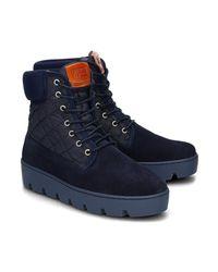 Napapijri | Blue Jenny Women's Low Ankle Boots In Multicolour | Lyst