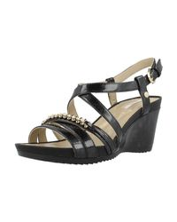 Geox - D New Rorie B Women's Sandals In Black - Lyst