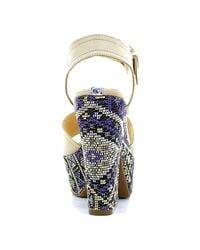 Guess - Flcea1 Lea03 High Heeled Sandals Women Brown Women's Sandals In Brown - Lyst