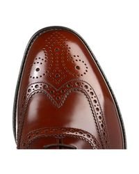 Loake - Mens Brown 202t Brogue Leather Shoes Men's Smart / Formal Shoes In Brown for Men - Lyst
