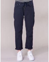 G-Star RAW - Arc Btn Os 3d Low Boyfriend Women's Trousers In Blue - Lyst