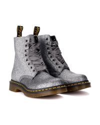 Dr. Martens - Multicolor Pascal Ankle Boots In Pewter Glitter And Satin Laces Women's Mid Boots In Other - Lyst